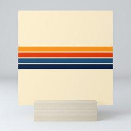 Classic Retro Stripes Mini Art Print