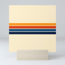 Classic Retro Stripes Mini Art Print