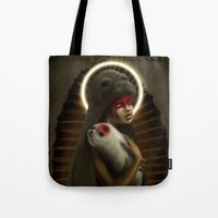 seal Tote Bags featuring seal by lalinsan