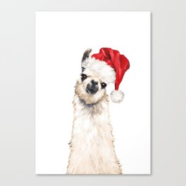 Christmas Llama Canvas Print