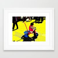 cycling Framed Art Prints featuring Cycling by lookiz