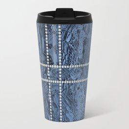 Ocean Blue Pearls Travel Mug