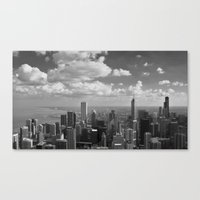 chicago Canvas Prints featuring chicago... by Chernobylbob