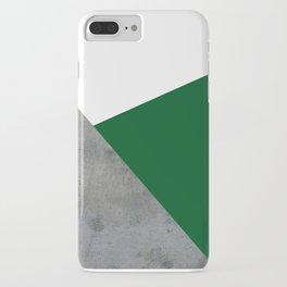 Concrete Festive Green White iPhone Case