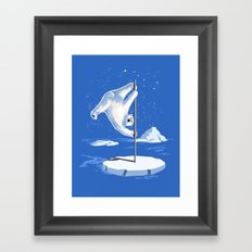 North Pole Dancer Framed Art Print