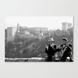 Busking under the Granada Sun Canvas Print