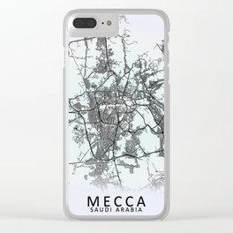 Mecca, Saudi Arabia, White, City, Map Clear iPhone Case
