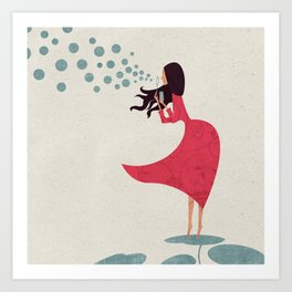 I'm bubbling. That state of absolute happiness when you are ready to fly. Art Print
