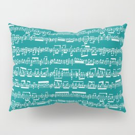 Sheet Music // Teal Pillow Sham