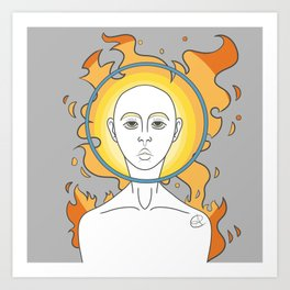 Fire Head Art Print