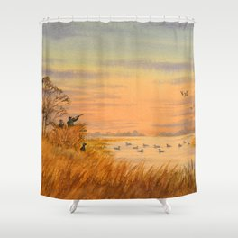 Duck Hunters Calling Shower Curtain