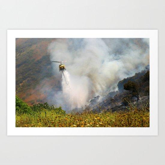 Barnett Fire Art Print