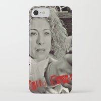 river song iPhone & iPod Cases featuring River Song; Hello Sweetie. by Art Corner