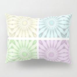 Pastel Pinwheel Flowers Panel Art Pillow Sham