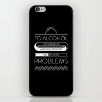 alcohol iPhone & iPod Skins featuring To alcohol! by Sama