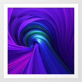 Twisting Forms #6 Art Print