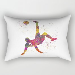 Soccer player isolated 09 in watercolor Rectangular Pillow