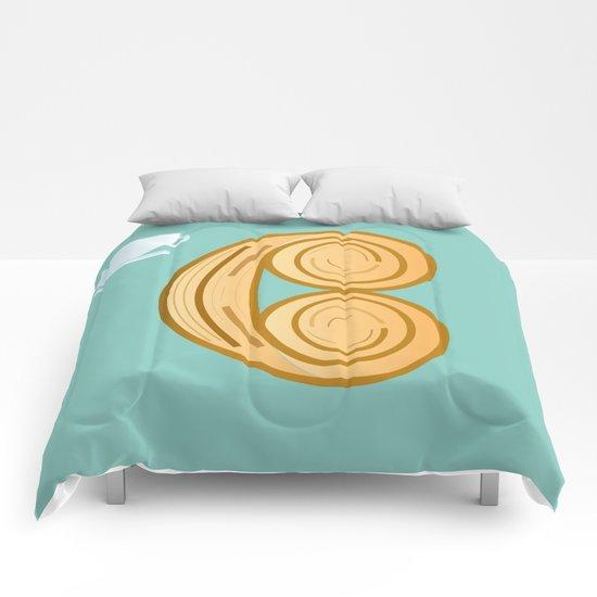 C for cool breakfast Comforters