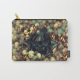 The skull, the flowers and the Snail Warm Carry-All Pouch