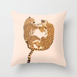 Cheetah Cuddles Throw Pillow