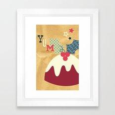 Yummy Christmas Pudding! Framed Art Print