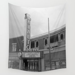 Vintage Neon Sign - The Rialto Theater - Tucson Arizona Wall Tapestry