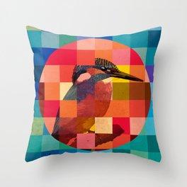 Kingfisher Sunset Throw Pillow