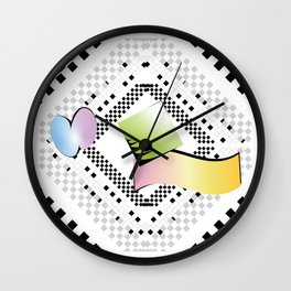 Checkered limbo Wall Clock