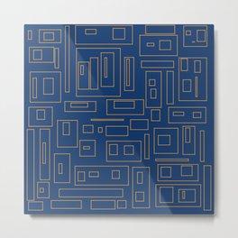 City life geometric Metal Print