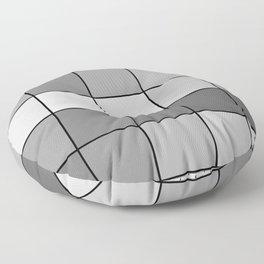 Pixels: Monochrome + Grid Floor Pillow