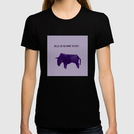 Do You Want to Play? - Origami Purple Bull T-shirt