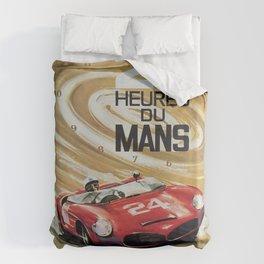 1963 Le Mans poster, Race poster, car poster, garage poster Duvet Cover