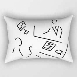 bank shop assistant bank clerk Rectangular Pillow