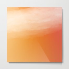 Watercolor (orange) Metal Print