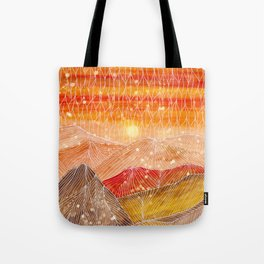 Lines in the mountains XXIV Tote Bag