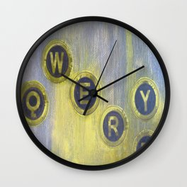 Qwerty Age Wall Clock