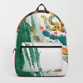 Mexico's Flag Design Backpack