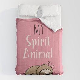 MY SPIRIT ANIMAL - Sleepy Sloth Comforters