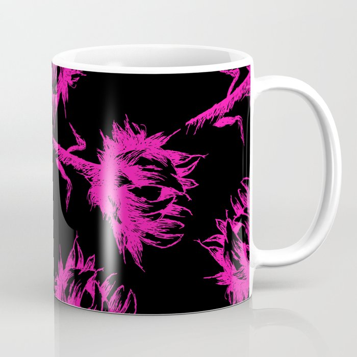 Neon Pink Sunflowers Coffee Mug by scarletwild