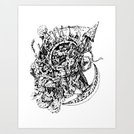 Chaos explosion Art Print