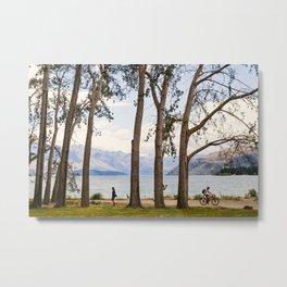 Lake Wanaka- Through the Trees Metal Print