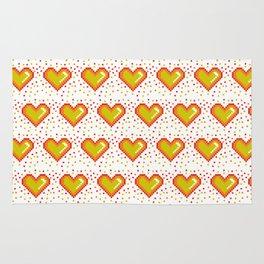 Pixel Heart Pattern #society6 #decor #buyart #artprint Rug