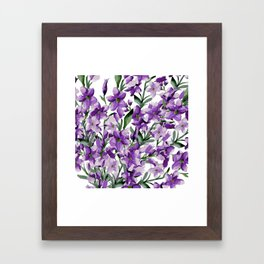 Lilac. Watercolor Framed Art Print