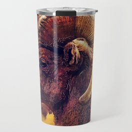 Bighorn sheep #sheep #animals Travel Mug