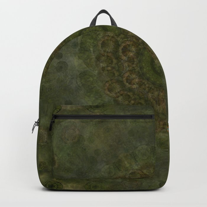 """Autumn mandala"" (Green-Grey Pattern) Backpack"