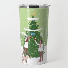 Decorating a tree Travel Mug