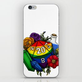 Pride Rainbow D20 Tabletop RPG Gaming Dice iPhone Skin