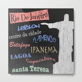 Rio De Janeiro Tourism Poster Metal Print