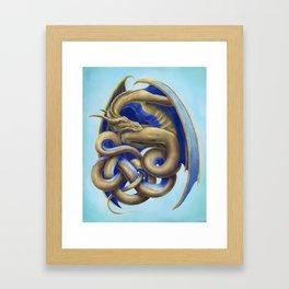 Twisted Dragon Framed Art Print