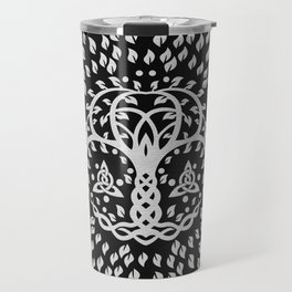 Tree of life with Triquetra Grayscale Travel Mug